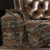Del Rio Throw Blanket Light Chocolate 50 x 60