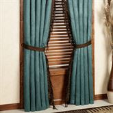 Del Rio Tailored Curtain Pair Light Chocolate 96 x 84