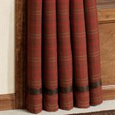Cascade Lodge Tailored Curtain Panel Brown 48 x 84