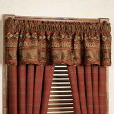 Cascade Lodge Gathered Valance Brown 84 x 18