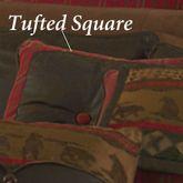 Cascade Lodge Button Tufted Square Pillow Brown 18 Square