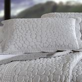 Pebbles Quilted Standard Sham Platinum Gray