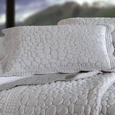 Pebbles Quilted Standard Sham Platinum Gray