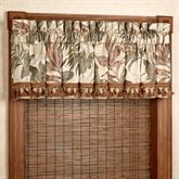 Bali Palm Tailored Valance Beige 88 x 17