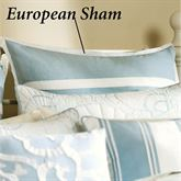 Crystal Beach Tailored European Sham White