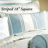 Crystal Beach Striped Square Pillow White 18 Square