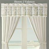 Brisbane Embroidered Valance Eggshell 48 x 16