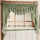 Sturbridge Ruffled Swag Valance Pair 56 x 38