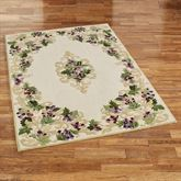 Grape Scroll Rectangle Rug Ivory