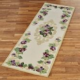 Grape Scroll Rug Runner Ivory 26 x 711