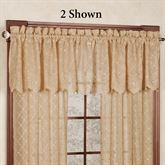 Mystic Sheer Scalloped Valance 53 x 17