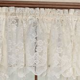 Floral Vine Lace Tailored Valance 60 x 18