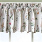 Butterfly Garden Tailored Valance White 55 x 12