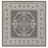 Antique Medallion Square Rug 76 Square