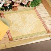 Pineapple Jacquard Placemat Set Yellow Set of Four