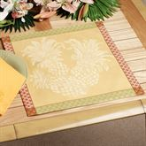 Pineapple Jacquard Placemat Set Yellow Set of Four