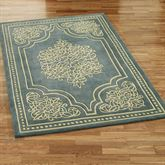 Lucia Lace Rectangle Rug Steel Blue