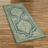 Lucia Lace Rug Runner Steel Blue 3 x 8