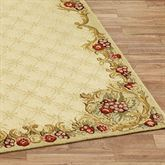 Wine and Roses Rug Runner 23 x 8
