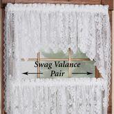 Dogwood Lace Swag Valance Pair 70 x 38