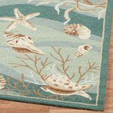 Seashells Rug Runner Seafoam 2 x 76