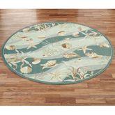 Seashells Round Rug Seafoam 76 Round