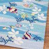 Tropical Fish Rug Runner Blue 2 x 76