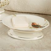 Gilded Bird Soap Dish Ivory