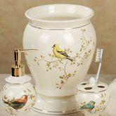 Gilded Bird Wastebasket Ivory