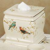 Gilded Bird Tissue Cover Ivory