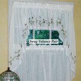 Garden Path Swag Valance Pair White 56 x 38