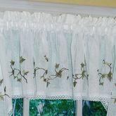 Garden Path Tailored Valance White 56 x 12