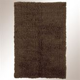 Cocoa Flokati Rectangle Rug