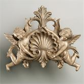 Cherub Loop Centerpiece Antique Gold 12.5x10