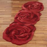 Raelyn Bloom Rose Rug Runner Red