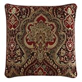 Roma Piped Pillow Red 20 Square