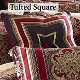 Roma Mitred Tufted Pillow 18 Square