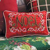 Bella Magnolia NOEL Embroidered Pillow Rectangle