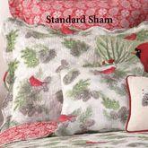 Winter Bird Quilted Sham White Standard