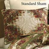 Watercolor Irish Chain Quilted Sham Multi Warm Standard