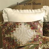Watercolor Irish Chain Ruffled Sham Light Cream European