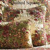 Watercolor Irish Chain Quilted Pillow Multi Warm 15 Square