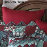 Abilene Patch Piped Sham Red European