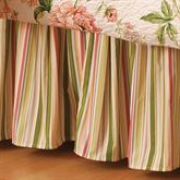 Pink Brianna Gathered Bedskirt White
