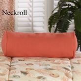 Caicos Piped Pillow Coral Neckroll