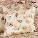 Caicos Tailored Pillow Light Cream 18 Square
