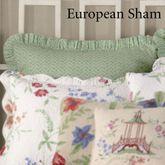 Marinella Ruffled Sham Light Green European