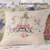Marinella Embroidered Pillow Light Cream 16 Square