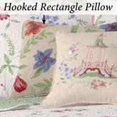 Marinella Hooked Pillow Ecru Rectangle