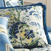 Imperial Dress Fringed Pillow Porcelain 18 Square